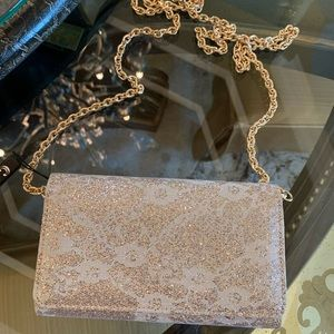 Champagne Shimmery evening bag